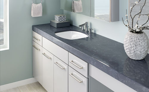 Bathroom Countertop Surface Options : Bathroom Countertops, Sinks, Showers & Tubs Corian, Living Stone ...